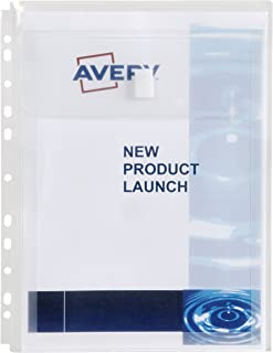 Avery Clear Plastic Expandable Sheet Pocket, 5 Pack (47902)