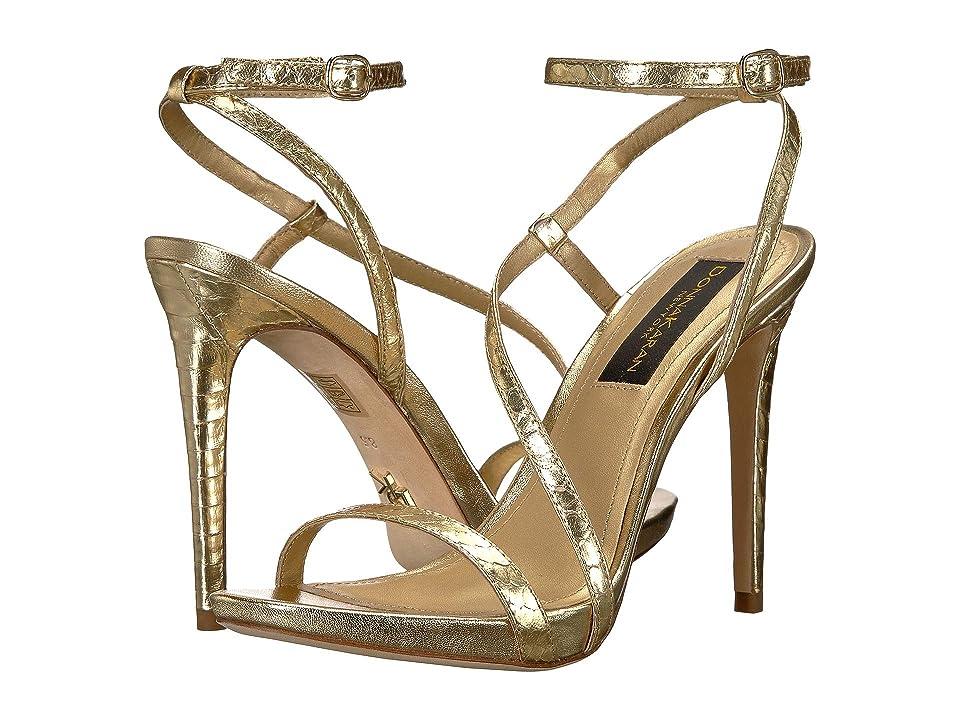 Donna Karan Stra Ankle Strap Sandal (Gold) Women
