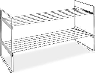 Whitmor - Estantes apilables para armario (2 niveles, cromados)
