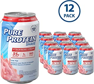 Pure Protein Ready to Drink Shakes, High Protein Strawberry, 11oz, 12 count