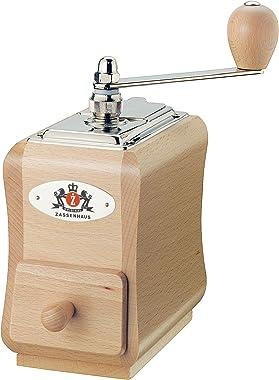 Zassenhaus Santiago Coffee Mill Grinder Beech Wood, 5.5 x 3.5 x 7.8, Natural varnish