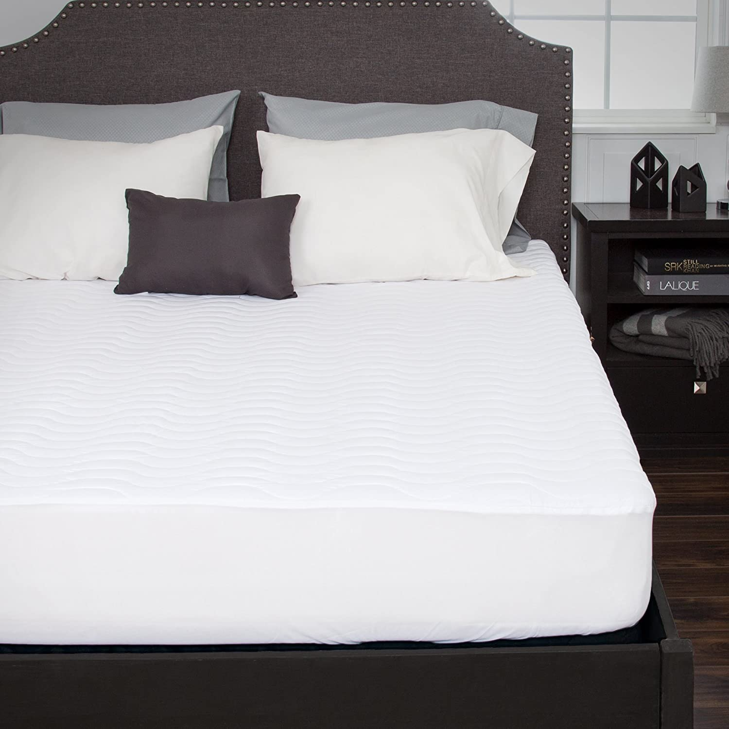 blueestone 64-19-K Down Alternative Mattress Pad with Fitted Skirt, King