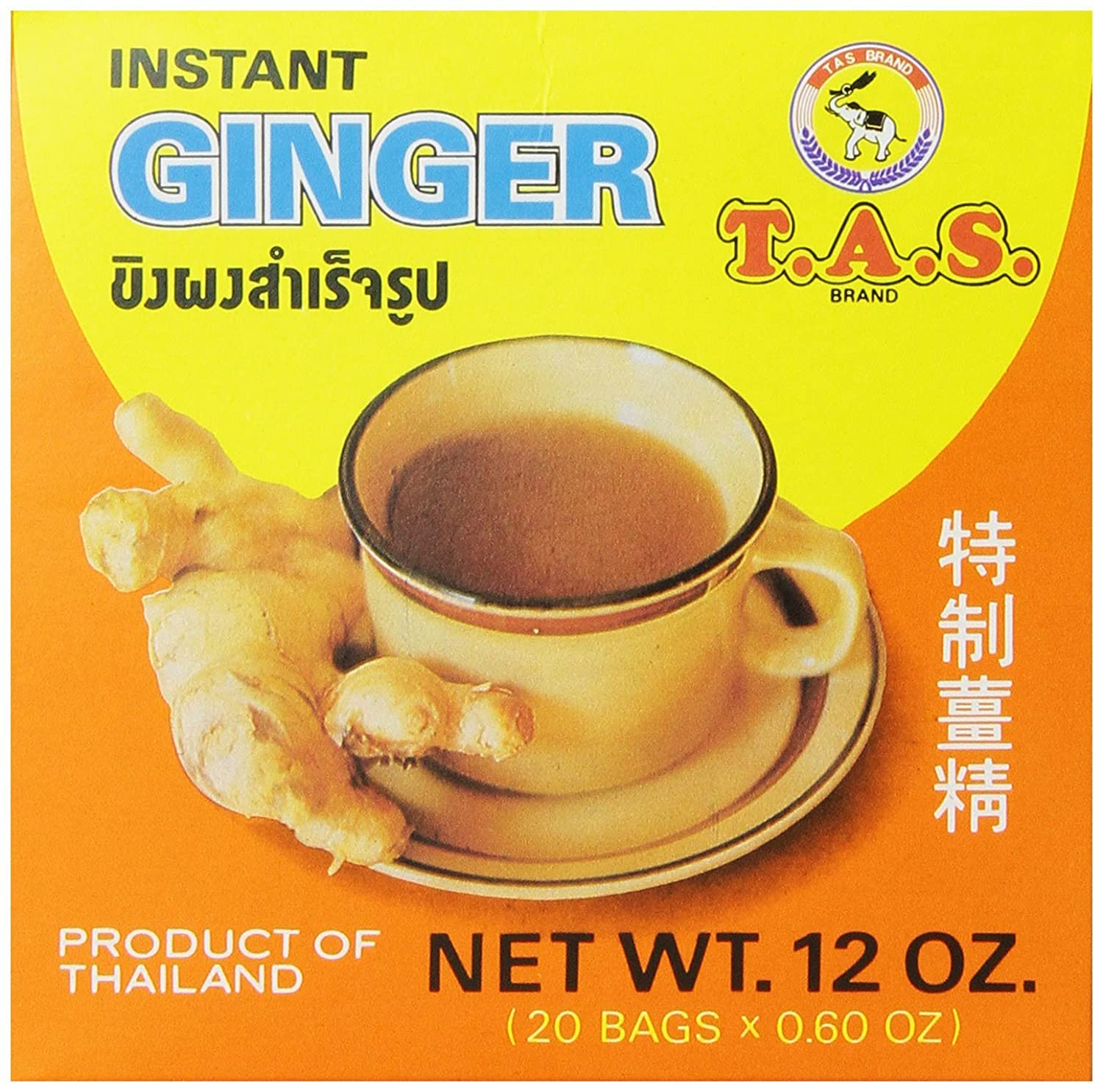 TAS New color Instant Thai Tea Ginger 12 Max 84% OFF SET Ounce 4 - OF