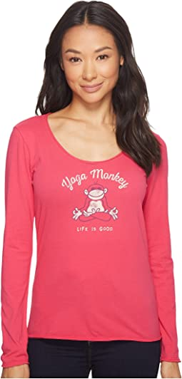 Life is Good - Yoga Monkey Long Sleeve Smooth Tee