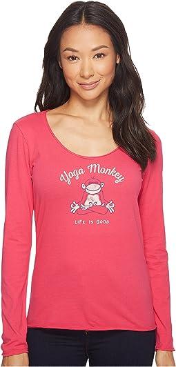Life is Good - Yoga Monkey Long Sleeve Smooth Tee