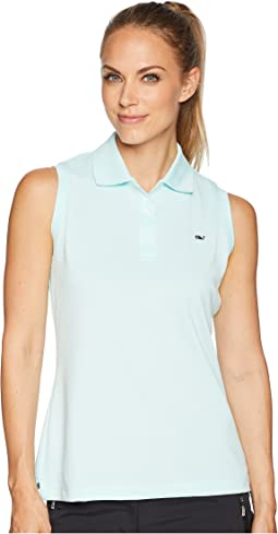 Sleeveless Performance Pique Polo
