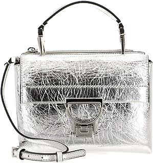 Coccinelle Arlettis Craquele Handbag Silver
