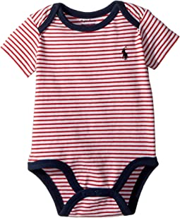 Ralph Lauren Baby - Striped Cotton Jersey Bodysuit (Infant)