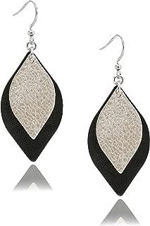 leather arrow earrings