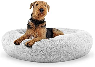The Dog's Bed Sound Sleep Original Calming Donut Dog Bed & Cat Bed, Small to XL, Premium Quality Anti-Anxiety Plush Nest B...