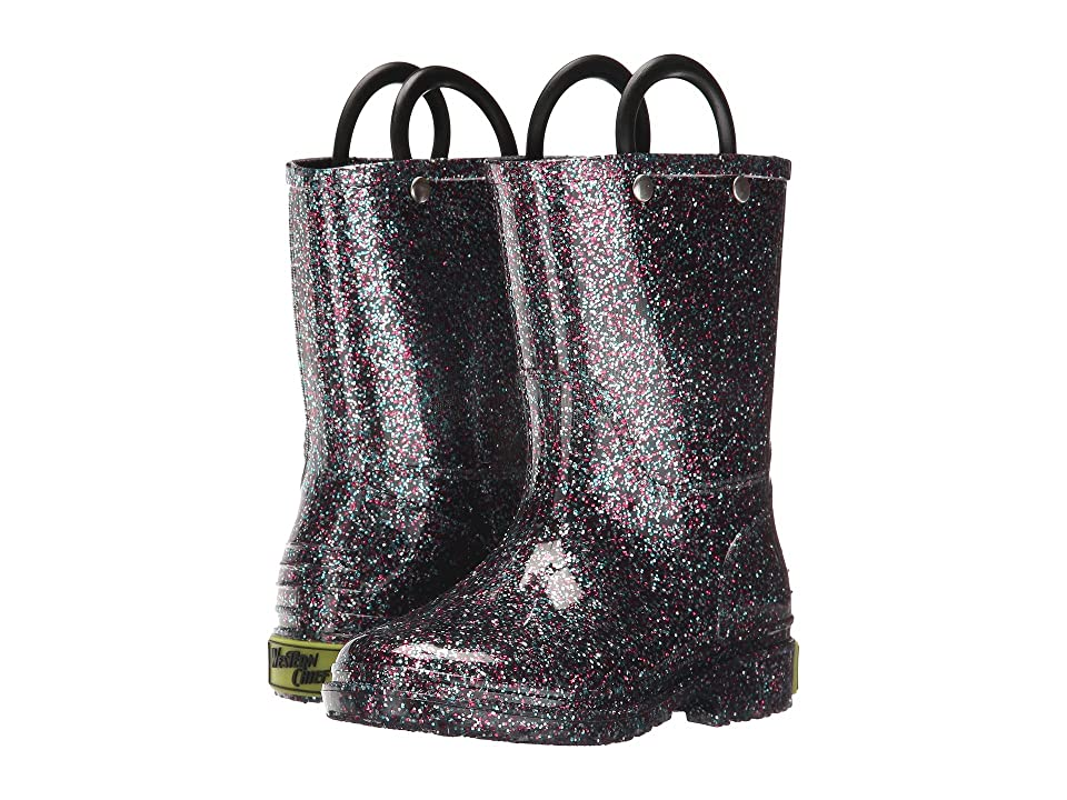 Western Chief Kids Glitter Rain Boots (Toddler/Little Kid) (Multi) Girls Shoes