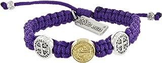 My Saint My Hero Benedictine Blessing Bracelet for Kids - Purple (Purple)