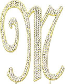 Best gold letter m cake topper Reviews