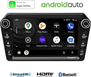 "Stinger ELEV8 8"" Multimedia Car Stereo with 1024 x 600 HD Display. Apple Car Play, Android Auto, SiriusXM Ready, Bluetooth, TOSLINK Audio Output & HDMI Rear Input, Single/Double DIN Mounting"