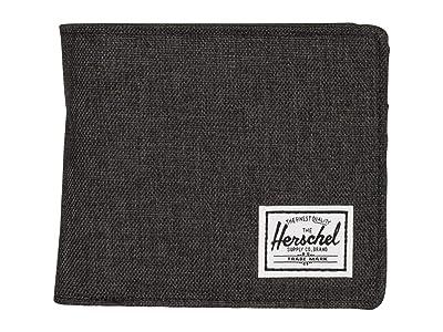 Herschel Supply Co. Hans Wallet Coin XL RFID (Black Crosshatch) Wallet Handbags