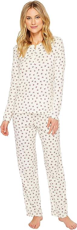 LAUREN Ralph Lauren - Rib Henley Pajama Set