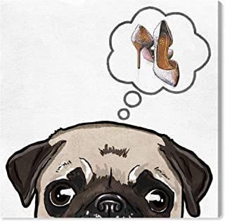 The Oliver Gal Artist Co. Fashion and Glam Wall Art Canvas Prints 'Chew Toy Dream' Home Décor, 12