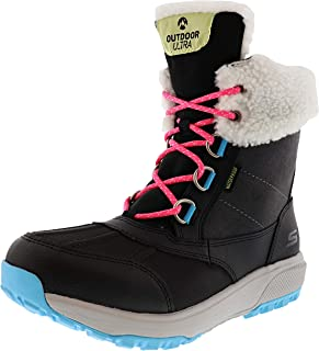 Skechers On The GO Outdoors Ultra - Snow Capped Womens Mid Calf Boot (7.5, Black/Multi)