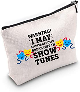 TSOTMO WARNING! I MAY SPONTANEOUSLY BREAK OUT IN SHOW TUNES Cosmetic Bags (SHOW TUNES)
