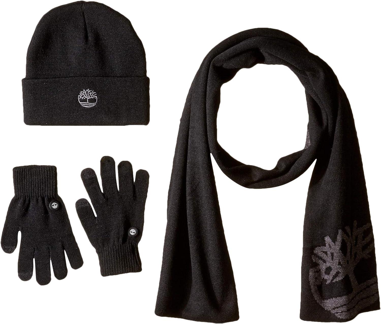 Oklahoma City Mall Timberland Sale Men's Double Layer Scarf Cuffed Beanie Magic Glove