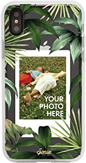 Sonix Tasmania Photo Frame Case for iPhone Xs Max [Military Drop Test Certified] Protective Banana Leaf Clear Polaroid Picture Case Series for Apple iPhone Xs Max