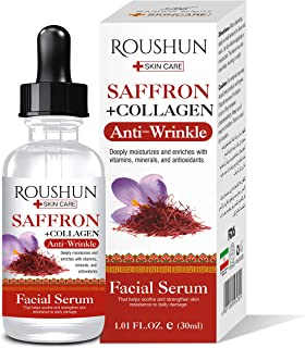 Roushun Beauty Saffron And Collagen Serum Anti-Wrinkle Deeply Moisturizes 30Ml