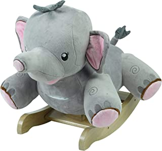 Puff Periwinkle Dragon Horse Plush Butterfly Baby Toy with Wooden Rocking Chiar Horse//Kid Rocking Toy//Baby Rocking Horse//Rocker//Animal Ride