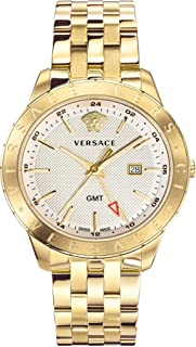 Versace Men's Business Slim Quartz Watch with Two-Tone-Stainless-Steel Strap, 21 (Model: VEBK00518)