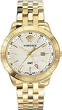 Versace Men's Business Slim Quartz Watch with Two-Tone-Stainless-Steel Strap, 21 (Model: VEBK00518)