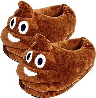 Emoji Peluche Pantofole, Inverno Cacca Slippers Fumetto Caldo Accogliente Morbido Emoticon Uomini Donne Casa Pantofole Sca...