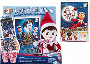 The Elf on the Shelf Festive Family Night with Original Elf Story DVD and New Santa's St. Bernards Save Christmas DVD