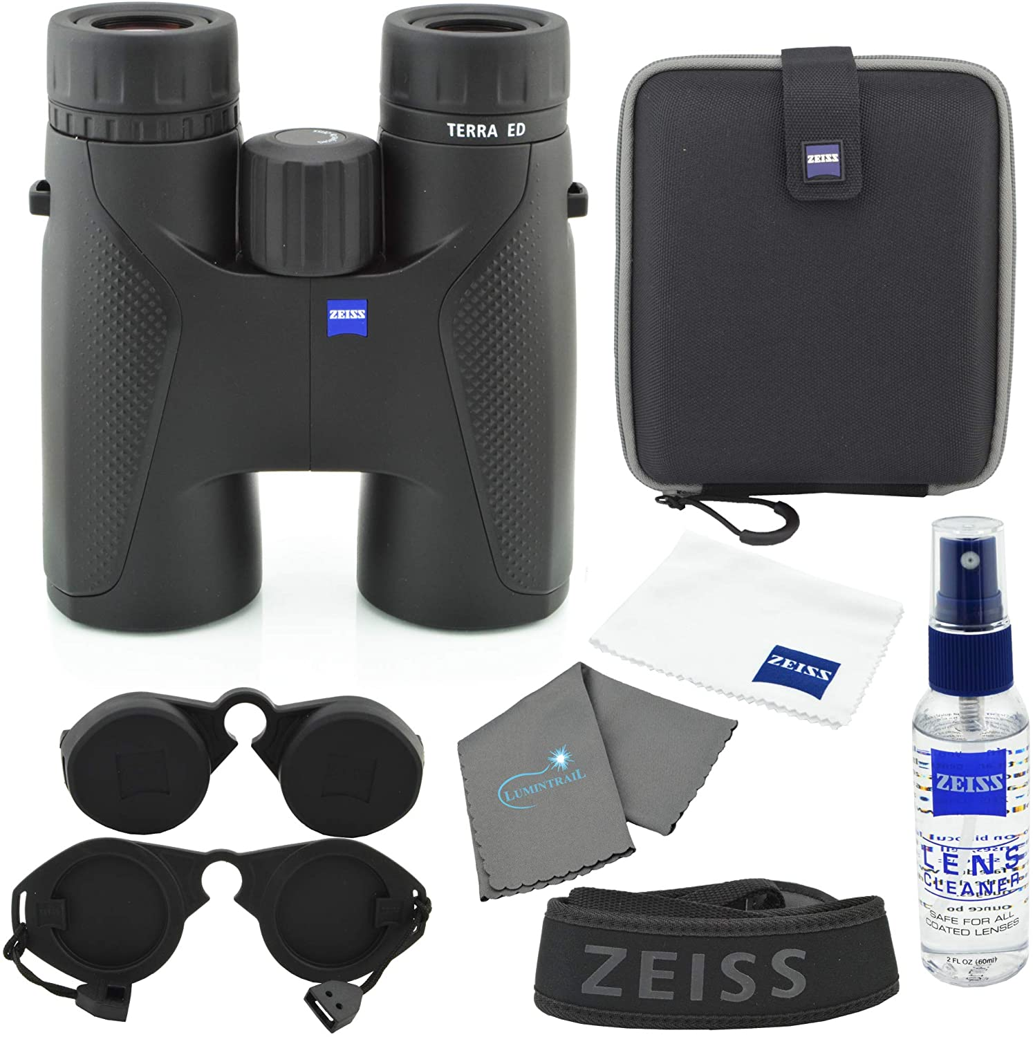 Zeiss 8x42 Terra ED Binocular Black Excellence Lens Bundle with Care Max 46% OFF