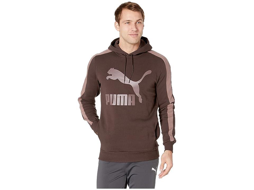 PUMA Classics T7 Logo Hoodie Fleece (Mole) Men
