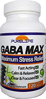 PureLife GabaMax 'Gabatrol Powder' – Fast Acting Stress and Anxiety Relief – Helps Improve Mental Focus and Clarity. Promotes Relaxation. By PureLife (120 Grams Powder)