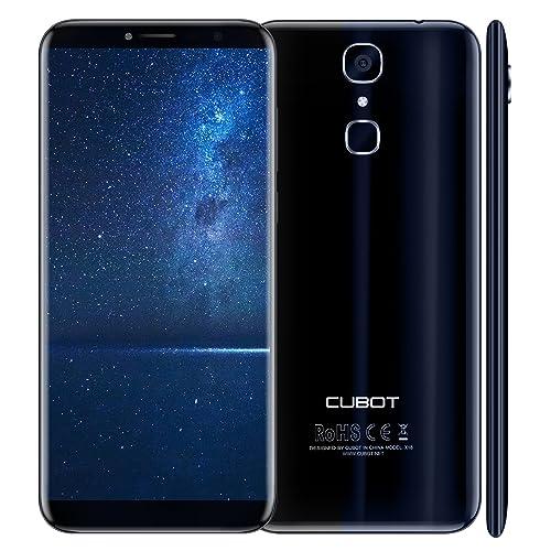 """CUBOT X18(2017) - 4G Android 7.0 Smartphone di rilascio (Touch Screen 5.7""""HD, batteria 3200mAh, 3GB di RAM + 32GB ROM, Quad core, dual sim, Fotocamera dà 16 MP, 1,5 GHz),nero [CUBOT UFFICIALE]"""
