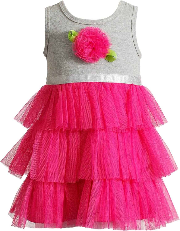 Youngland Little Girls Tutu Dress Hot Pink Rose 3T