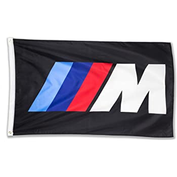 Amazon Com Whgj Car Flag 3x5 Ft Fade Resistant For Bmw M Logo Iiim Racing Car 150d Quality Thicker Large Garage Decor Banner Garden Outdoor