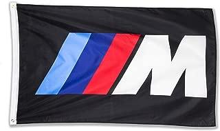 WHGJ Car Flag 3x5 FT for BMW M Logo IIIM Racing Car Large Garage Decor Banner
