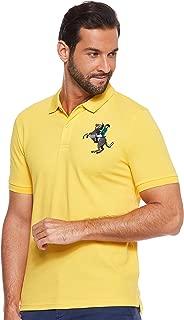 Giordano mens 01019210 3D Lion Multi-color Embroidery Polo