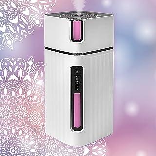 Ultrasonic USB Mini Home Humidifier, Aroma Essential Oil Diffuser 300ml, Boho Decor, Multi Coloured LED Lights, Small Port...