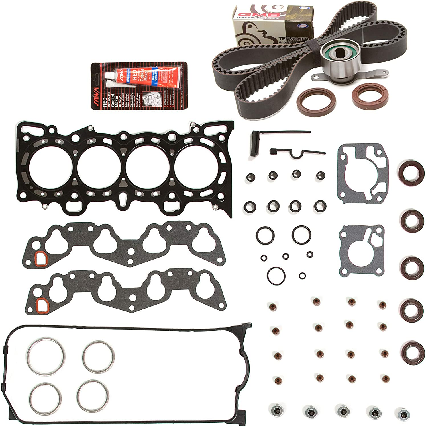 Evergreen HSTBK4028-2 Head Gasket Now free Dallas Mall shipping Set Compatible Kit Belt Timing