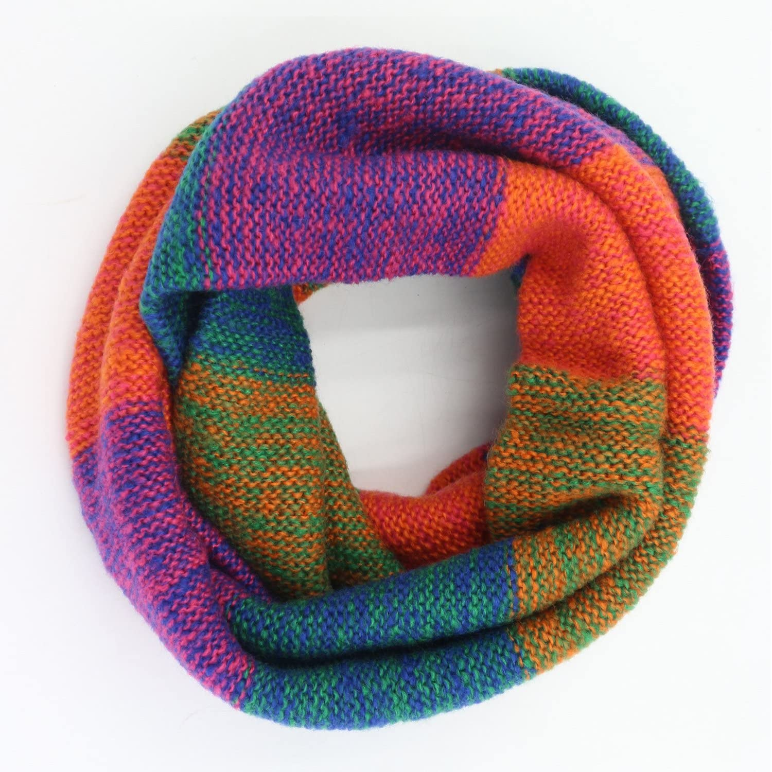 Leories Winter Warm Infinity Scarf Thick Knit Circle Loop Scarf Neck Warmer