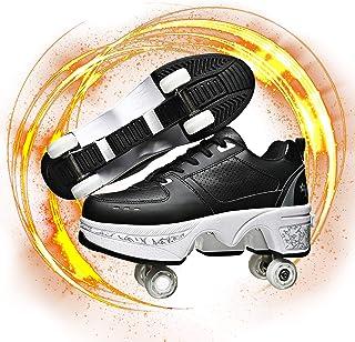 Hmlopx Deformation parkour skor fyra runda löparskor rullskridskor 2-i-1 multifunktionella skor pojkar flickor universella...