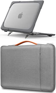 ProCase MacBook Pro 13 Inch Grey Hard Shell Case + Light Grey Sleeve Bag, Compatible with MacBook Pro New 13-inch Model M1...