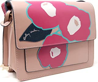 Eden Row Small Flapover Crossbody Bag (Dark Beige)
