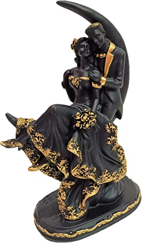 Ethnic Karigari Couple Figurine for Home Decoration Couple Statue for Gift Moon