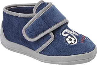 comprar comparacion Sleepers - Zapatillas botines de estar por casa con diseño de fútbol para niños