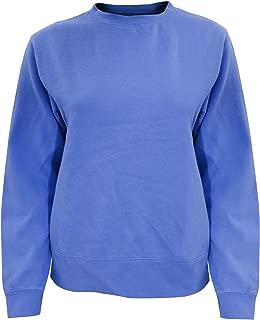 Comfort Colors Womens/Ladies Crew Neck Sweatshirt (XL) (Flo Blue)