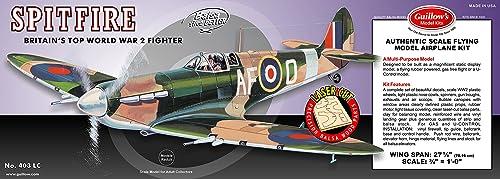 GUILLOW's Supermarine Spitfire 403 Powerot Balsa Flying Model Kit