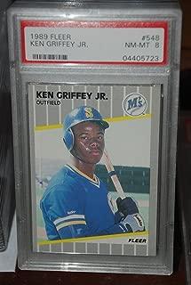 PSA 8 1989 Fleer Ken Griffey Jr Baseball Card #548 Seattle Mariners